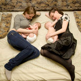 Breast-feeding Royalty Free Stock Photography