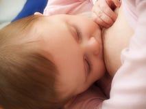 Breast feeding. Mother breast feeding her newborn baby Stock Photos