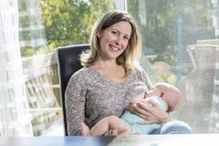 Breast feeding baby Royalty Free Stock Photo