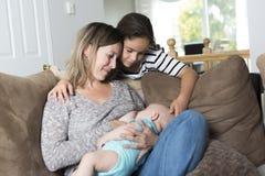 Breast feeding baby Royalty Free Stock Image