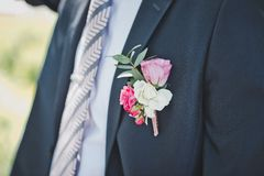 Breast of the man in a suit 1699. Royalty Free Stock Photography