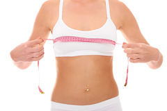 Breast measurement royalty free stock photos