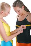 Breast measurement Stock Images