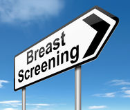 Breast screening concept. Stock Images