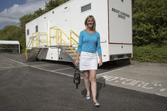 Breast screening service mobile vehicle Stock Image