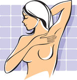 Breast self-exam Stock Photography