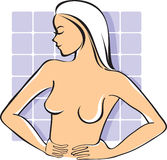 Breast self-exam Royalty Free Stock Photos