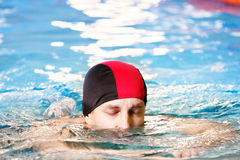 Breast-stroke swimmer Stock Image