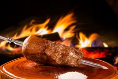 Breast tip, traditional Brazilian barbecue. Breast tip, traditional Brazilian barbecue royalty free stock image
