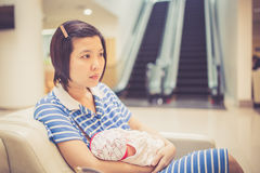 breastfeeding Arkivbild