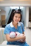 breastfeeding Royaltyfri Foto