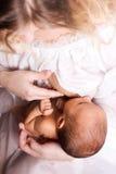 Breastfeeding Obrazy Royalty Free