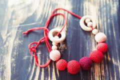 Breastfeeding beads Royalty Free Stock Images