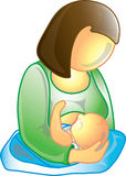 Breastfeeding icon Stock Photo