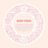 Breastfeeding poster template. royalty free illustration