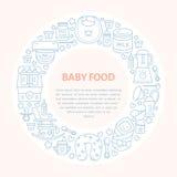 Breastfeeding poster template. Vector line illustration of breast feeding, baby infant food. Nursery element: breast pump, woman, Stock Photo