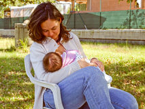 Breastfeeding Royalty Free Stock Photos