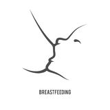 Breastfeeding sign. Breast feeding sign in line-art style Royalty Free Stock Photo
