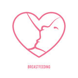 Breastfeeding sign stock illustration
