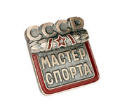 Breastplate. Breast Badge (Breastplate) best athletes USSR Master of Sport Stock Photography
