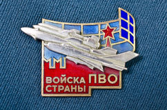 Breastplate icon officer air defense of the Soviet Union Stock Photo