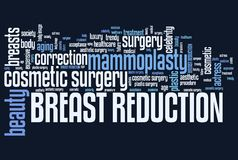 Breasts reduction Stock Images