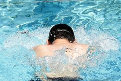 Breaststroke Swimming Professionall Stock Photo