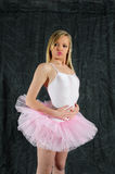 Breath in. Young female ballet dancer wearing her tutu and leotard outfit Royalty Free Stock Photography