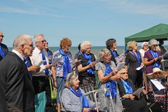 Breath of life choral singers. Photo of breath of life choral singers for charity singing at the tankerton slopes fun day in whitstable kent england on 22nd june Royalty Free Stock Photography