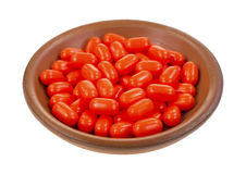 Breath mints in bowl Royalty Free Stock Photos