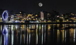 Breath-taking cityscape view of Pokhara city of Nepal.