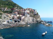 Breath taking colours. Manarola, Chinque Terre, Italy Stock Photo