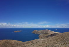Breath taking view of Lake Titicaca as seen from the Isla del Sol Royalty Free Stock Images