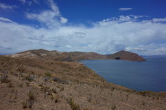 Breath taking view of Lake Titicaca as seen from the Isla del Sol Royalty Free Stock Image