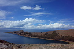 Breath taking view of Lake Titicaca as seen from the Isla del Sol Stock Image
