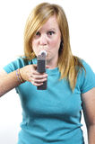 Breath test Royalty Free Stock Photography
