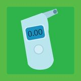 Breathalyzer medical device for measuring the. The breathalyzer device for measuring the alcohol in the exhaled air drivers royalty free illustration