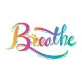 Breathe. vector illustration