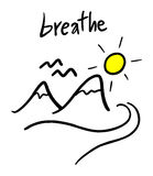 Breathe message Royalty Free Stock Photography