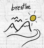 Breathe message. Creative design of breathe message Royalty Free Stock Photography