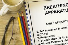 Breathing apparatus Stock Photography
