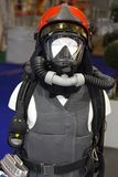 Breathing Apparatus. Self Contained Breathing Apparatus With Safety Detector For Firefighters royalty free stock photo
