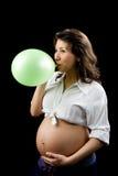 Breathing excercises stock image
