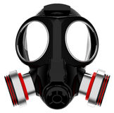 The breathing mask. 3d generated picture of a breathing mask royalty free illustration