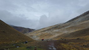 Breathing of the mountain. Rain changes the environment up in the highlands of Peru Stock Photography