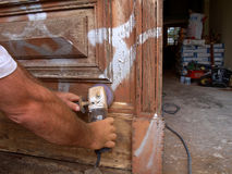 Breathing new life from old. Craftsmen at work, repair and tools Stock Image
