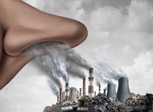Breathing Toxic Pollution Royalty Free Stock Image
