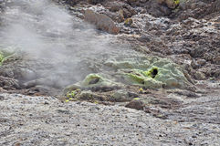 Breathing volcano Royalty Free Stock Image