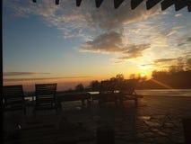Breathtaking заход солнца стоковые фото
