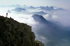 breathtaking ландшафт доломитов Стоковые Фотографии RF